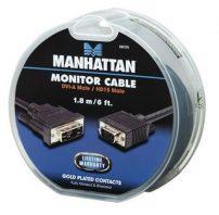 Manhattan καλώδιο DVI-A σε VGA M/M 1.8m