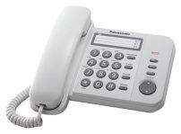 PANASONIC Ενσύρματο τηλέφωνο KX-TS520EX2W λευκό