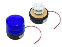 STROBE 12V BLUE LED ΜΑΓΝ.100ΜΜ