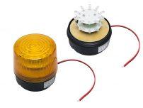 STROBE 12V AMBER LED ΜΑΓΝ.100ΜΜ