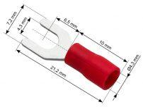 Ακροδέκτης διχαλωτός 4.3mm SET 100tmx