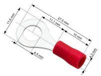 Ακροδέκτης οπής 6.5mm SET 100tmx