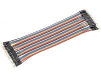 40pcs 20cm 1p-1p Plug to Plug jumper wire