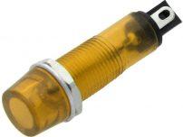 Λαμπάκι 9mm 230V Κίτρινο