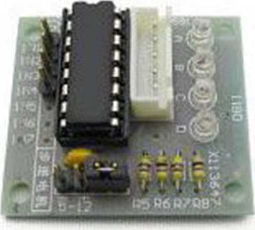 FIVE LINE FOUR PHASE STEPPER, MOTOR DRIVE BOARD