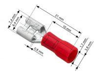 Ακροδέκτες με Μόνωση Θηλυκοί 6.3mm 100τμχ