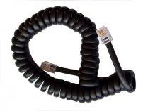 Καλώδιο Ακουστικού 4P4C Spiral Μαύρο 4.2m, 4703